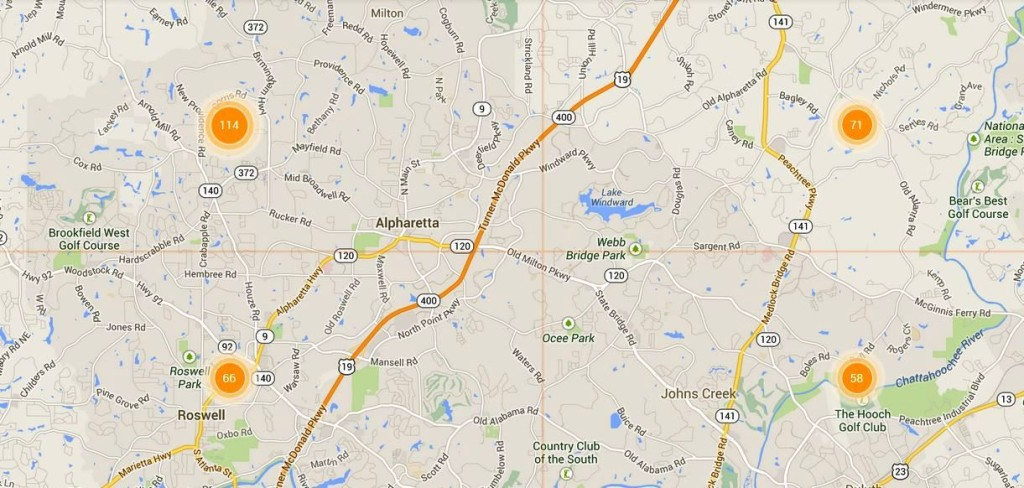 MLS Alpharetta Map Search Homes